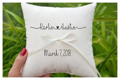 Excited to share the latest addition to my #etsy shop: Personalized Ring bearer pillow, Wedding ring pillow , wedding pillow ,ring holder , ring bearer pillow,custom pillow , wedding pillow (R69) http://etsy.me/2nZvY1q #weddings #decoration #ringpillow #weddingpillow #