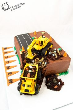 construction cake for boys