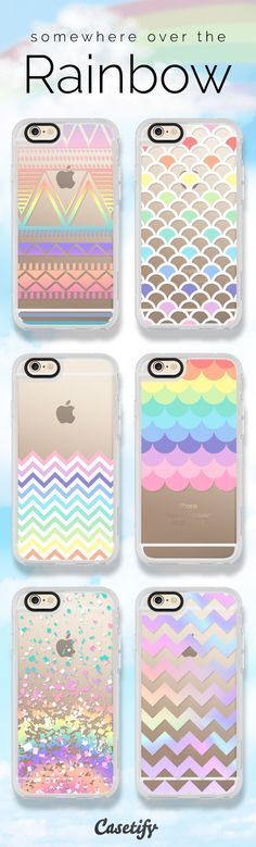 Somewhere over the #rainbow Take a look at these cases featuring rainbows on our site now!  https://www.casetify.com/artworks/b6jycVVgEs | @casetify #phonecase