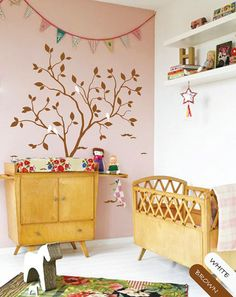 Tree wall decal whimsical nursery wall decor tree by CreativeCrowd