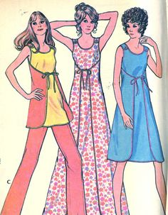 Your place to buy and sell all things handmade Maternity Sewing Patterns, Vintage Sewing Patterns, Dress Patterns, Vintage 70s, Vintage Looks, Vintage Fashion, Reversible Dress, Diy Clothing, Fashion Fabric