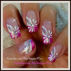 Floral Pink Nail Art | Spring-Summer - Nail Art Gallery