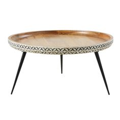 Round Black Metal and Carved Solid Mango Wood Coffee Table Krishna on Maisons du Monde. Take your pick from our furniture and accessories and be inspired! Teen Furniture, Hallway Furniture, Small Furniture, Dining Room Furniture, Furniture Makeover, Repurposed Furniture, Business Furniture, Outdoor Furniture, Furniture Ideas