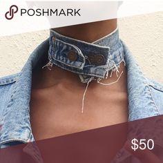 Choker Custom made Levi Jean Choker Levi's Jewelry Necklaces