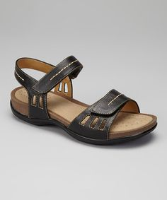 Take a look at this Black Cecilia Sandal by Softspots on #zulily today!