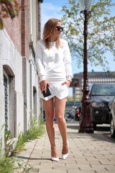 Vogue Color #streetstyle #stylish #white