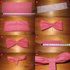 Hair bow step by step