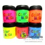 Tinta Líquida Neon - maquiagem rosto e corpo - cores sortidas - 15 ml - unidade