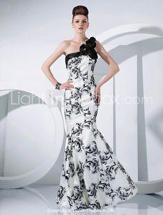 Formal Evening/Military Ball Dress - Ivory Trumpet/Mermaid One Shoulder Floor-length Taffeta 2015 – $129.99