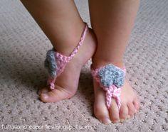 Tutus and Tea Parties: Free Crochet Pattern   Crochet Barefoot Sandals