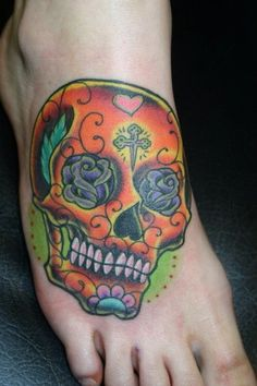 Inked Magazine offers the best tattoo style magazine. Read articles about celebr. - Inked Magazine offers the best tattoo style magazine. Read articles about celebr… - Small Back Tattoos, Cute Tiny Tattoos, Tattoos For Women Small, Unique Tattoos, Beautiful Tattoos, Deer Skull Tattoos, Sugar Skull Tattoos, Sugar Skulls, Calaveras Mexicanas Tattoo