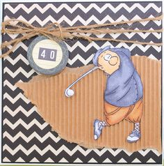 Gordon Golfer Art Impressions Ai People masculine golf sports themed handmade card.