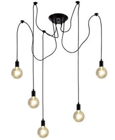 SWAG Pendant Chandelier Lights. One fixture with many options! - See pictures for available cord colors, socket finishes, and bulb choices. View