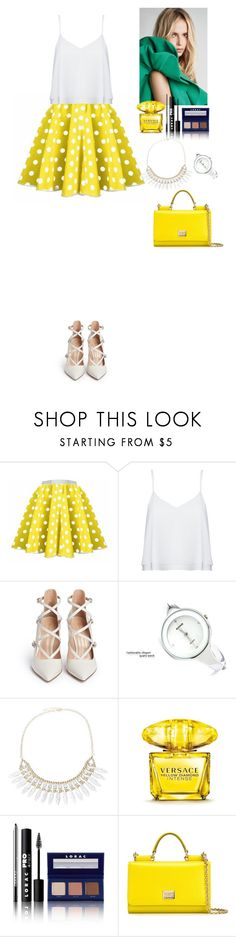"""Outfit TOMTOP"" by eliza-redkina ❤ liked on Polyvore featuring Alice + Olivia, Gianvito Rossi, Versace, LORAC, Dolce&Gabbana, Summer, outfit, like, look and tomtop"