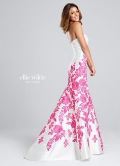 0af3fe04e1f Ellie Wilde for Mon Cheri EW117023 Floral Lace Prom Dress