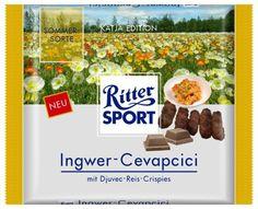 RITTER SPORT Fake Schokolade  Ingwer-Cevapcici