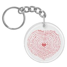 World of Love Heart Keychain - unusual diy cyo customize special gift idea personalize