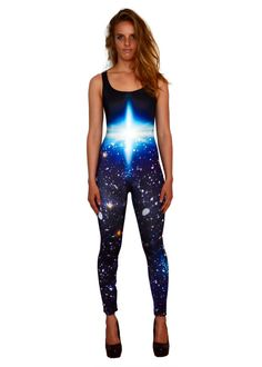 Tell the world you're destined to be an exploding star with this Super Nova catsuit by Pokosha Clothing. Buy it now at www.pokosha.com or follow us + repin one post and we'll send you a 10% off discount code for our etsy shop. These galaxy tights are perfect for dancing night after night at music festivals and flying high at acro yoga jams... they are a high performance garment for having a really really good time in, so please enjoy irresponsibly!