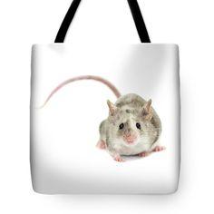 Small And Fluffy Tote Bag by Svetlana Svetlanistaya#Svetlanistaya #Mouse #ToteBag #HomeDecor