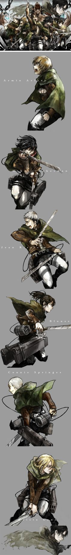 SnK. I love that it has everyone's last name and then there's just Levi. Not Levi Ackerman. Just Levi.