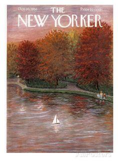 The New Yorker Cover - October 20, 1956 Regular Giclee Print
