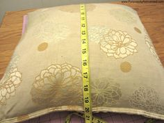 How To Make a No Sew Pillow Cover Using Fusible Bonding Web | Purposedly Reinvented