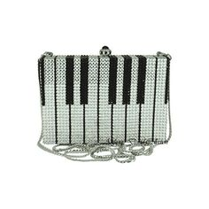 Anthony David® Evening Bag with Swarovski Crystal AD186 Piano Keys ($400) ❤ liked on Polyvore