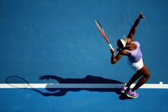 Sloane Stephens of the United States serves in her fourth round match against Bojana Jovanovski of Serbia during day eight of the 2013 Australian Open at Melbourne Park on January 21, 2013 in Melbourne, Australia.