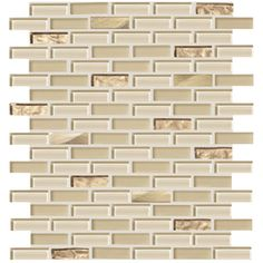 American Olean�Delfino Glass Cornsilk Glass Mosaic  Wall Tile (Common: 12-in x 12-in; Actual: 11.87-in x 11.87-in)
