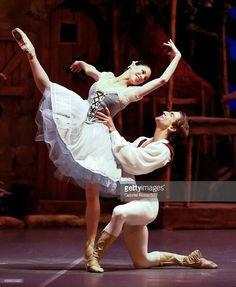 Paloma Herrera and Juan Pablo Ledo of Permanent Colon Theatre Ballet Company dance during a presentation of Ballet Giselle at Colon Theatre on October 2, 2014 in Buenos Aires, Argentina. Paloma Herrera announced she will retire after 2015 season.