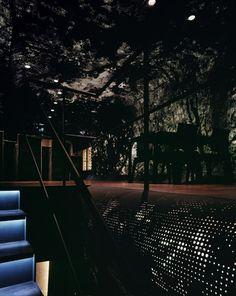 "CHIAROSCURO: the glow through perforations is the ""forest"" environment of imprinted photograph [Aoba-Tei // 2004Sendai, Miyagi Prefecture, Japan // Atelier Hitoshi Abe / 阿部仁史アトリエ]"