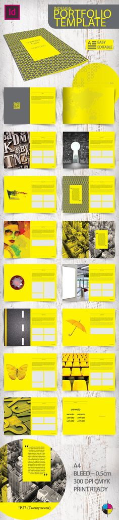 Indesign Portfolio Template by Erdem Ozkan, via Behance