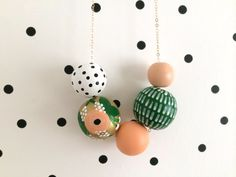 SALE // No. 55 // Hand Painted Wooden Bead by shoplulapearl