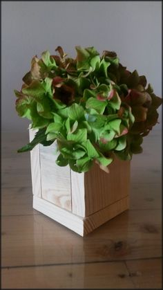 Beautiful flowerpot made of recycled pallets. It is perfect decoration for your office :) ....pallet wood, reclaimed wood