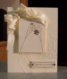 Image detail for -tone on tone wedding congratulations card stampin up to have to hold . Wedding Congratulations Card, Mother Card, Wedding Cards Handmade, Wedding Anniversary Cards, Diy Cards, Stampin Up Cards, Birthday Cards, Card Making, Engagement Cards