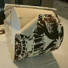 Isabella & Max Rooms: How To Cover Lampshades With Fabric & Trim