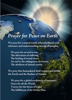 Prayer For Peace On Earth ☮✨ WILD WOMAN SISTERHOOD™ #WildWomanSisterhood #peace…