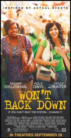 """Win advance-screening movie passes to the new drama """"Won't Back Down"""" starring Maggie Gyllenhaal and Viola Davis courtesy of HollywoodChicago.com! Win here: http://www.hollywoodchicago.com/links/goto/19993/431/links_weblink"""