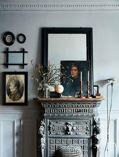 ornate mantel with modern victorian styling. / sfgirlbybay