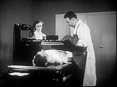 1950's fluoroscopy. I pains me to see that there was no such thing as a thyroid shield. Thank God for modern medicine.