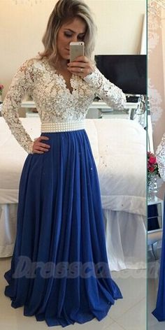 Modest Handmade Long Chiffon Royal Blue Beading Prom Dresses,Sparkly Long Sleeves Prom Dress, Prom Gowns http://www.luulla.com/product/597206/modest-handmade-lonf-chiffon-royal-blue-beading-prom-dresses-sparkly-long-sleeves-prom-dress-prom-g