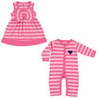 Hudson Baby 2-Piece Layette Set, Pink