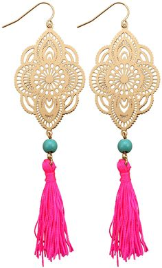 Bijou Brigitte Drop Earrings - Neon Splash
