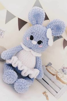 FREE amigurumi plush bunnies girl and boy pattern #amigurumi #amigurumipattern #crochettoy #crochetpattern #crochetbunny #amigurumibunny #amigurumitoy #freeamigurumipatterns Amigurumi Toys, Amigurumi Patterns, Crochet Bunny Pattern, Crochet Patterns, Crochet Toys, Free Crochet, Bunny Plush, Knitted Animals, Cute Bunny