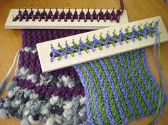 Loom knitting simple and preety