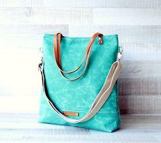 Canvas Bags – Waxed Canvas Tote Bag – a unique product by bayanhippo via en.DaWanda.com