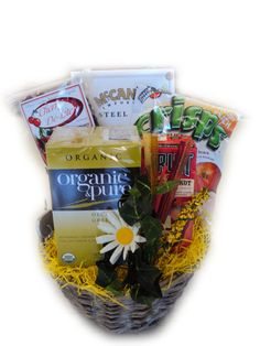 healthy get well basket for cancer fighting
