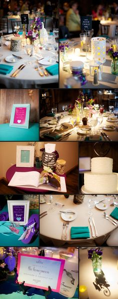LOVE this vibrant color scheme and all the details the photography team were able to capture in this collage. Collages are a great way to present wedding photos! Photo by MattnNat Photography  Pin from DreamWeddingsPA.com