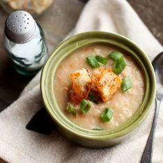White Bean and Ham Soup // More Great Soups: http://www.foodandwine.com/slideshows/warming-soups #foodandwine