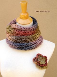 Ava-Soy Infinity-Loop Scarf-Olive by gsakowskidesigns on Etsy